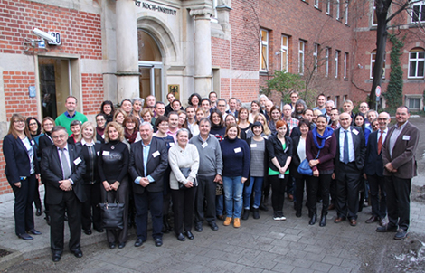 EMERGE partners in front of the Robert Koch Institute © RKI